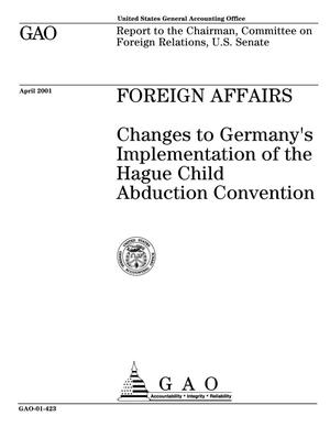 Primary view of object titled 'Foreign Affairs: Changes to Germany's Implementation of the Hague Child Abduction Convention'.