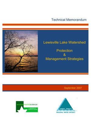 Primary view of object titled 'Technical Memorandum: Lewisville Lake Watershed Protection & Management Strategies'.