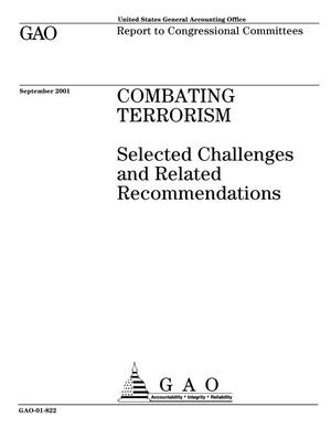 Primary view of object titled 'Combating Terrorism: Selected Challenges and Related Recommendations'.