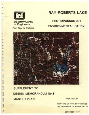 Primary view of object titled 'Pre-impoundment Environmental Study of Ray Roberts Lake'.