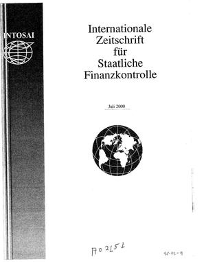 Primary view of object titled 'International Journal of Government Auditing, July 2000, Vol. 27, No. 3 (German Version)'.
