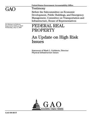 Primary view of object titled 'Federal Real Property: An Update on High Risk Issues'.