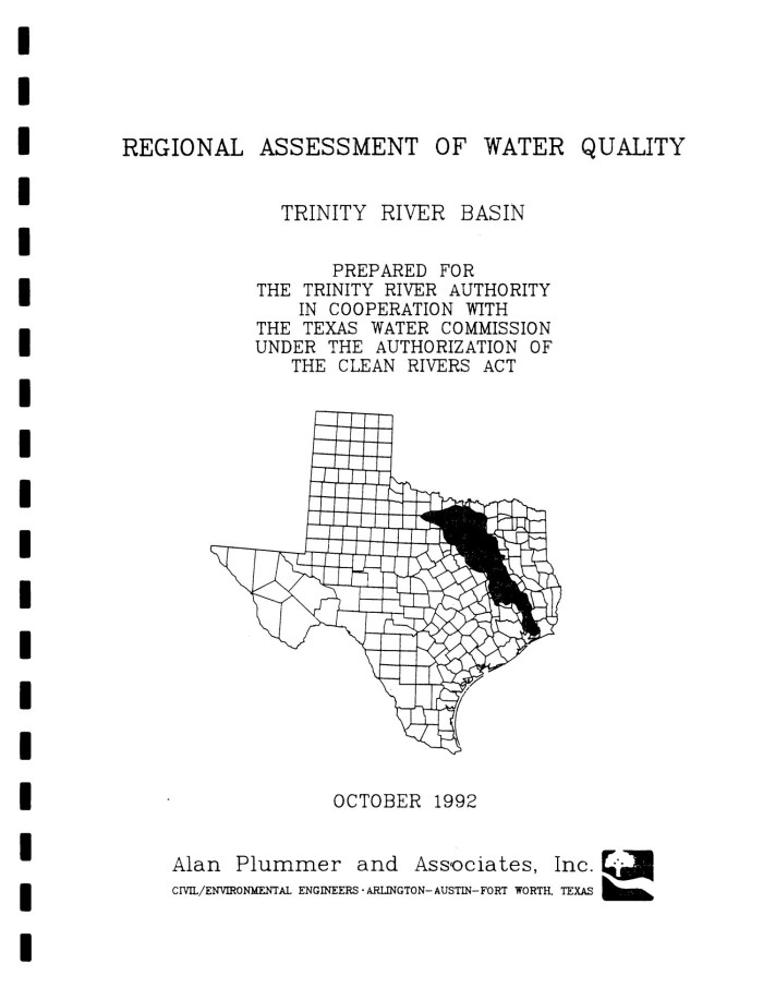 Regional Assessment of Water Quality: Trinity River Basin