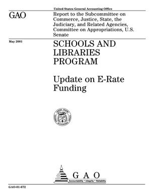 Primary view of object titled 'Schools and Libraries Program: Update on E-Rate Funding'.