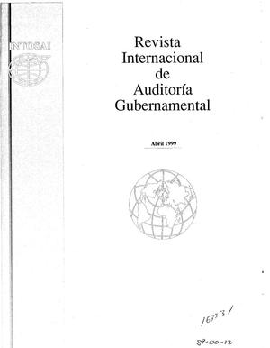 Primary view of object titled 'International Journal of Government Auditing, April 1, 1999, Vol. 26, No. 2 (Spanish Version)'.
