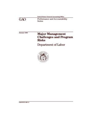 Primary view of object titled 'Major Management Challenges and Program Risks: Department of Labor'.