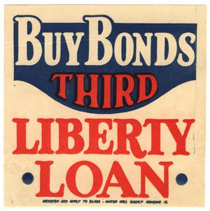Primary view of object titled 'Buy bonds : Third Liberty Loan'.