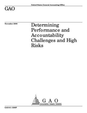Primary view of object titled 'Determining Performance and Accountability Challenges and High Risks'.