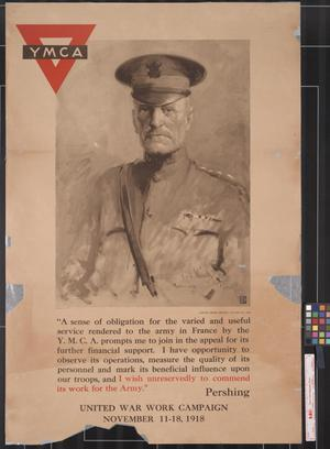 Primary view of object titled 'YMCA United War Work Campaign, November 11-18, 1918'.