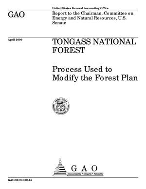 Primary view of object titled 'Tongass National Forest: Process Used to Modify the Forest Plan'.