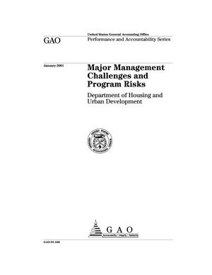 Primary view of object titled 'Major Management Challenges and Program Risks: Department of Housing and Urban Development'.
