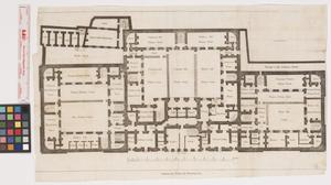 Primary view of object titled 'Ground Plan of Newgate.'.