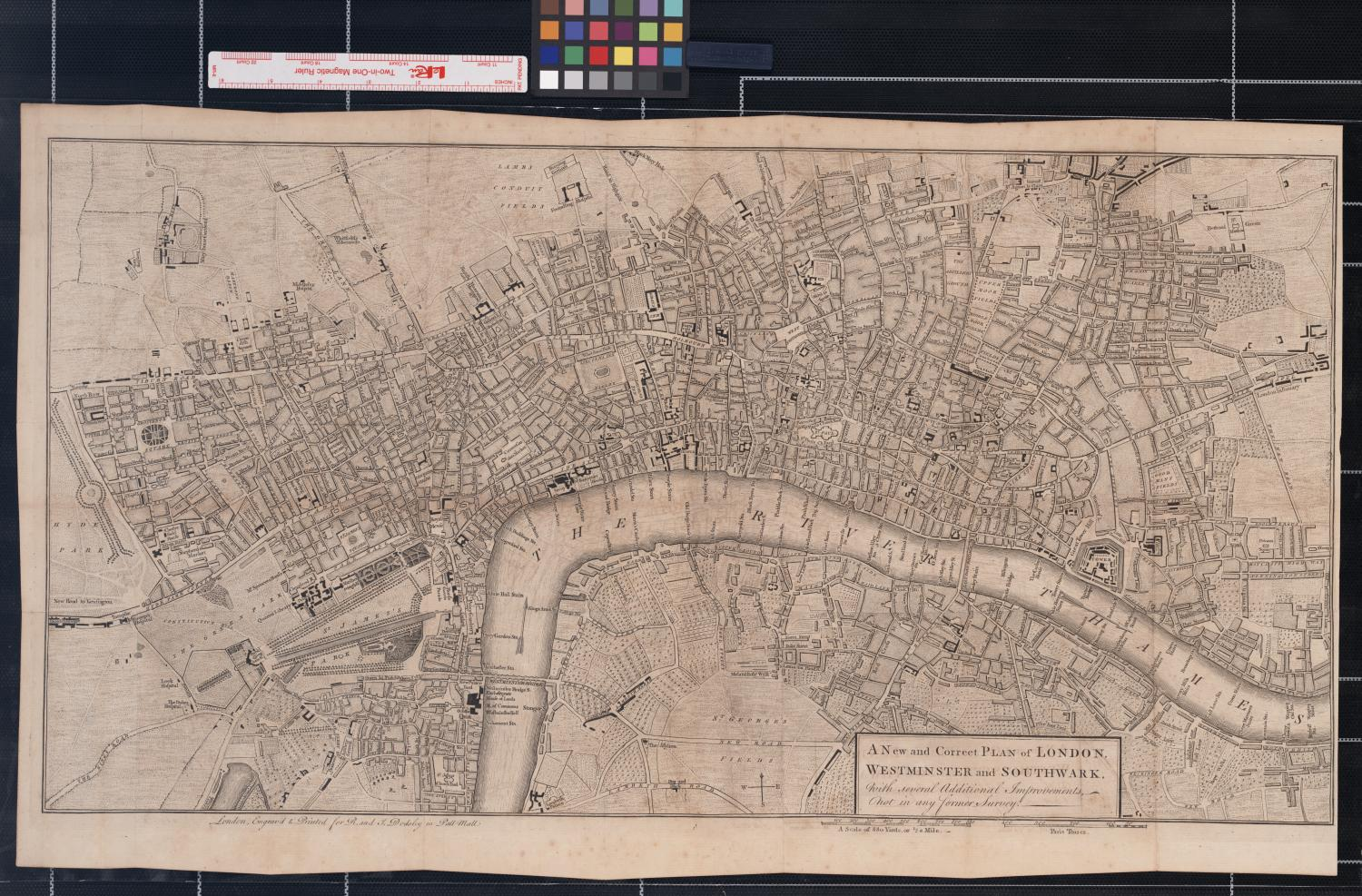 A New and Correct Plan of London, Westminster and Southwark, with several Additional Improvements, not in any former Survey.                                                                                                      [Sequence #]: 1 of 1