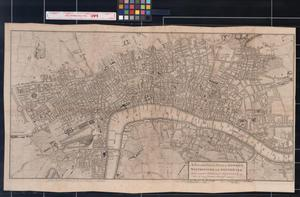 Primary view of object titled 'A New and Correct Plan of London, Westminster and Southwark, with several Additional Improvements, not in any former Survey.'.