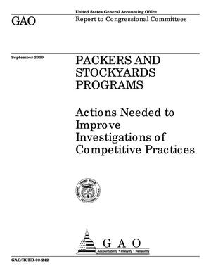 Primary view of object titled 'Packers and Stockyards Programs: Actions Needed to Improve Investigations of Competitive Practices'.