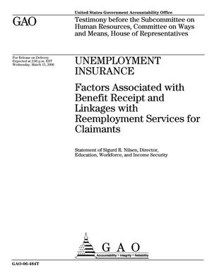 Primary view of object titled 'Unemployment Insurance: Factors Associated with Benefit Receipt and Linkages with Reemployment Services for Claimants'.