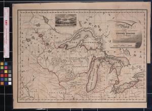 Primary view of object titled 'Map of the Northwestern Territories of the United States, Showing the Track pursued by the Expedition under Gov. Cass in 1820'.