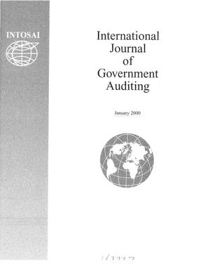 Primary view of object titled 'International Journal of Government Auditing, January 2000, Vol. 27, No. 1'.