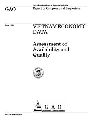 Primary view of object titled 'Vietnam Economic Data: Assessment of Availability and Quality'.