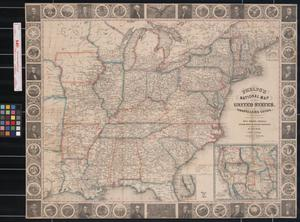 Primary view of Phelps's National Map of the United States, a Travellers' Guide