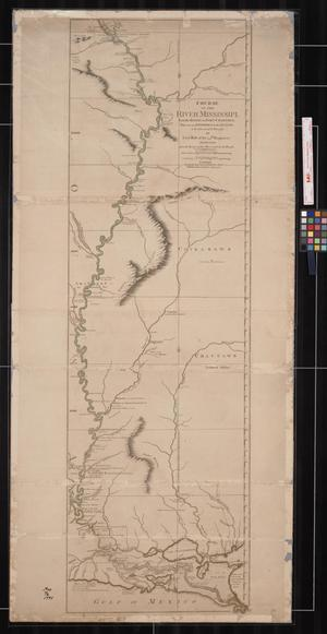 Primary view of Course of the River Mississippi, from the Balise to Fort Chartres: Taken on an Expedition to the Illinois, in the latter end of the Year 1765.