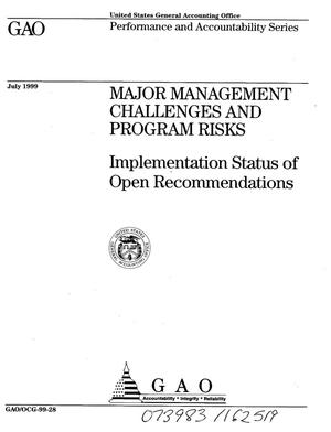 Primary view of object titled 'Major Management Challenges and Program Risks: Implementation Status of Open Recommendations'.