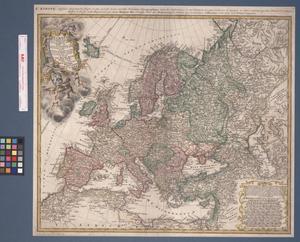 Primary view of Europa, secundum legitimas projectionis stereographic︠a︡e regulas et juxta recentissimas observationes ︠a︡eque ac relationes adhibitis qvoq[ue] veterum monumentorum subsidiis