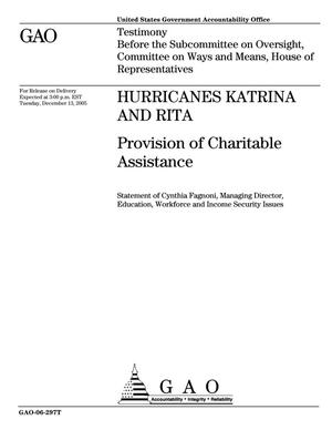 Primary view of object titled 'Hurricanes Katrina and Rita: Provision of Charitable Assistance'.
