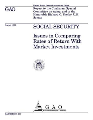 Primary view of object titled 'Social Security: Issues in Comparing Rates of Return With Market Investments'.