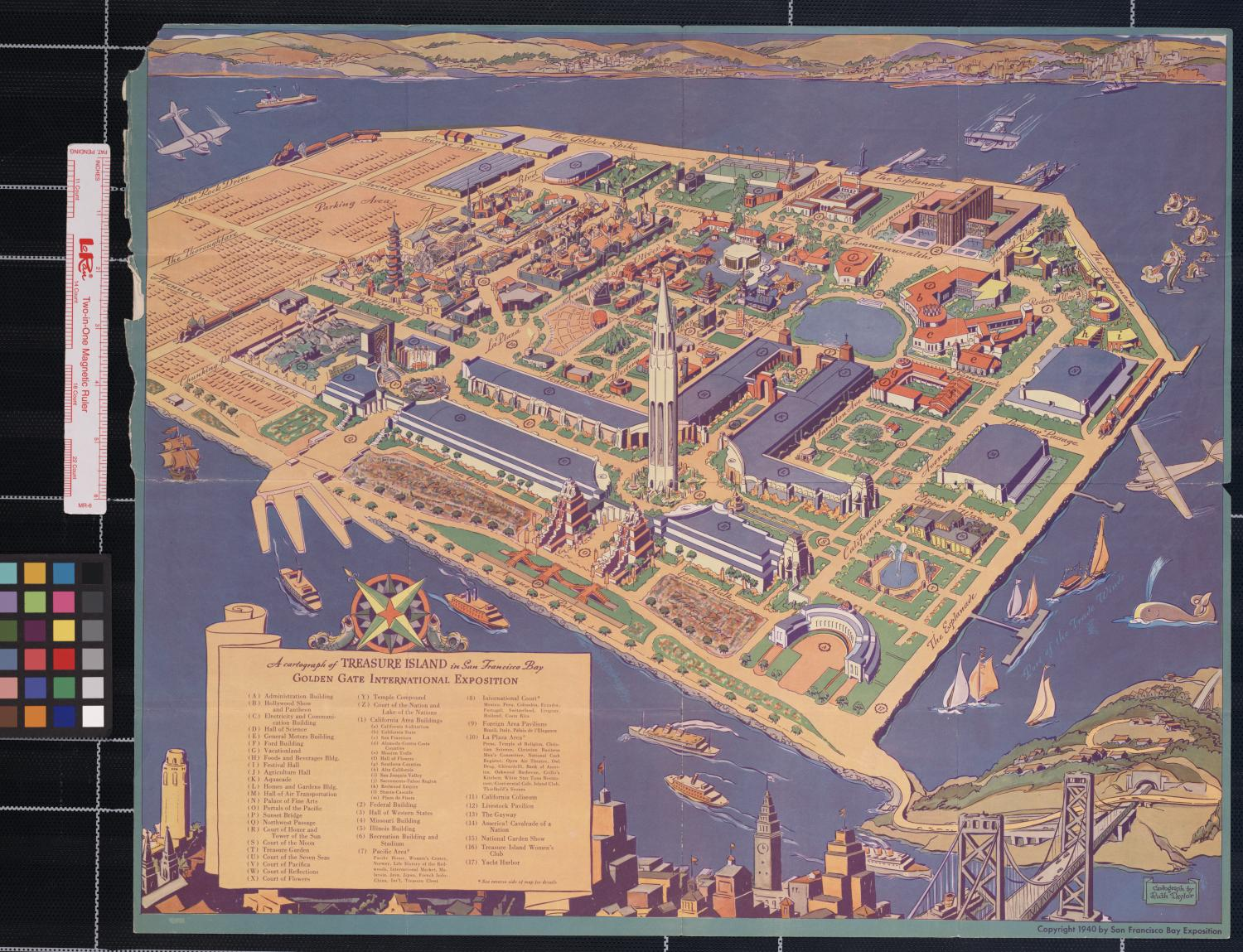 A cartograph of Treasure Island in San Francisco Bay : Golden Gate International Exposition                                                                                                      [Sequence #]: 1 of 2