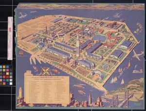 A cartograph of Treasure Island in San Francisco Bay : Golden Gate International Exposition