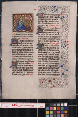 Primary view of object titled 'Manuscript leaf from a liturgical work of ca.1300-1600.'.
