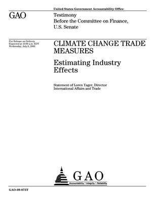 Primary view of object titled 'Climate Change Trade Measures: Estimating Industry Effects'.