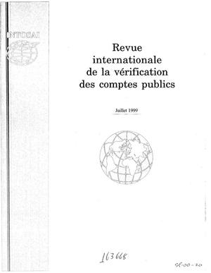 Primary view of object titled 'International Journal of Government Auditing, July 1999, Vol. 26, No. 3 (French Version)'.