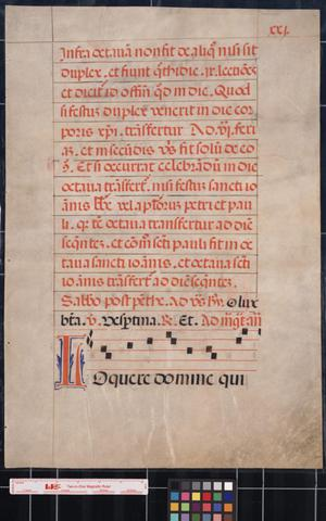 Primary view of object titled '[Manuscript leaf of music]'.