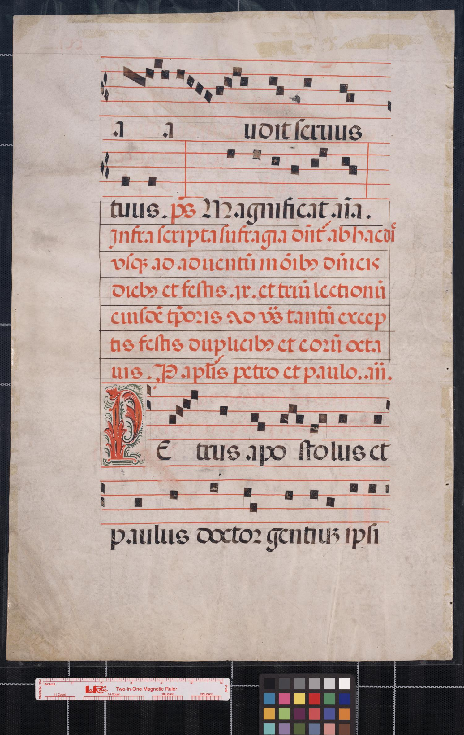 [Manuscript leaf of music]                                                                                                      [Sequence #]: 2 of 2