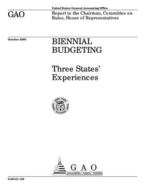Primary view of object titled 'Biennial Budgeting: Three States' Experiences'.