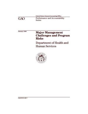 Primary view of object titled 'Major Management Challenges and Program Risks: Department of Health and Human Services'.