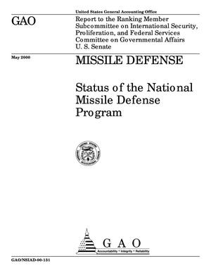 Primary view of object titled 'Missile Defense: Status of the National Missile Defense Program'.