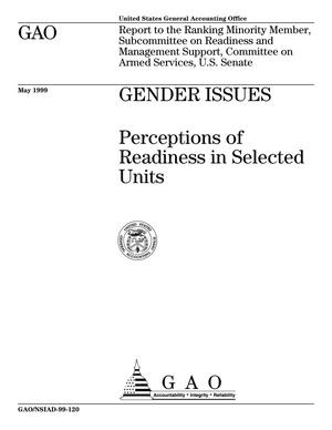 Primary view of object titled 'Gender Issues: Perceptions of Readiness of Selected Units'.