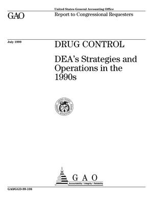 Primary view of object titled 'Drug Control: DEA's Strategies and Operations in the 1990s'.