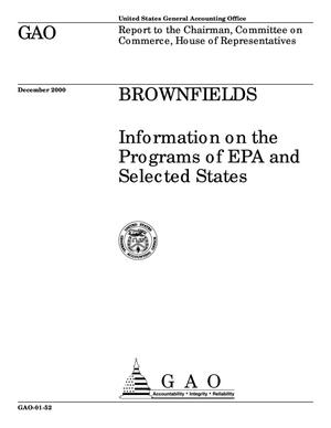 Primary view of object titled 'Brownfields: Information on the Programs of EPA and Selected States'.