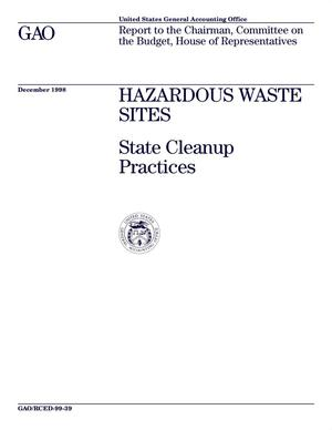 Hazardous Waste Sites: State Cleanup Practices