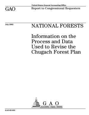 Primary view of object titled 'National Forests: Information on the Process and Data Used to revise the Chugach Forest Plan'.