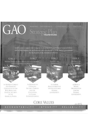 Primary view of object titled 'GAO: Making a Difference for Congress and the Nation; Strategic Plan Framework'.