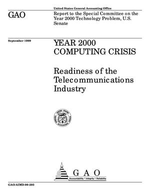 Primary view of object titled 'Year 2000 Computing Crisis: Readiness of the Telecommunications Industry'.