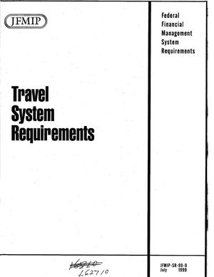 Primary view of object titled 'Travel System Requirements'.