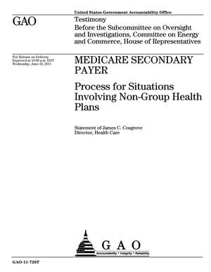 Primary view of object titled 'Medicare Secondary Payer: Process for Situations Involving Non-Group Health Plans'.