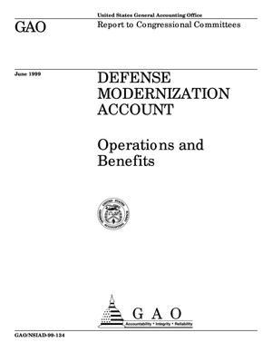Primary view of object titled 'Defense Modernization Account: Operations and Benefits'.