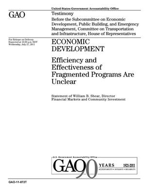 Primary view of object titled 'Economic Development: Efficiency and Effectiveness of Fragmented Programs Are Unclear'.